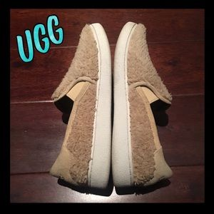 Authentic UGG faux sheepskin slip on sneakers